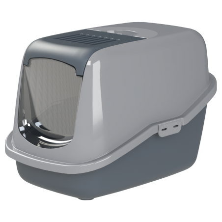 Katzentoilette EcoHus mit Haube, Siebeinsatz und Aktivkohlefilter