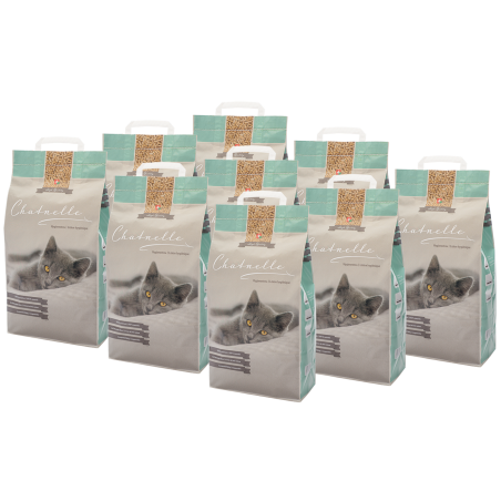 Abbonamento mensile pacco da 9 lettiere igieniche Chatnelle